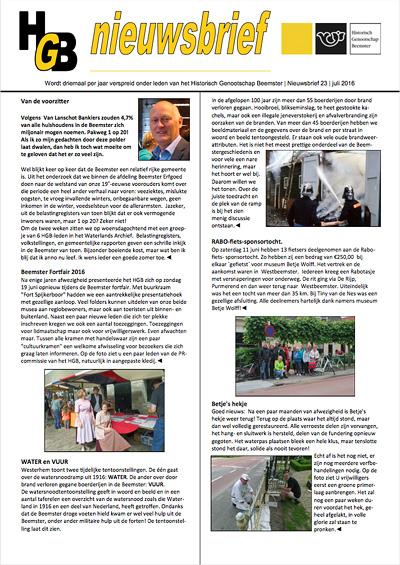 HGB Nieuwsbrief 23
